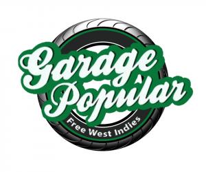 garage populaur restaurant logo